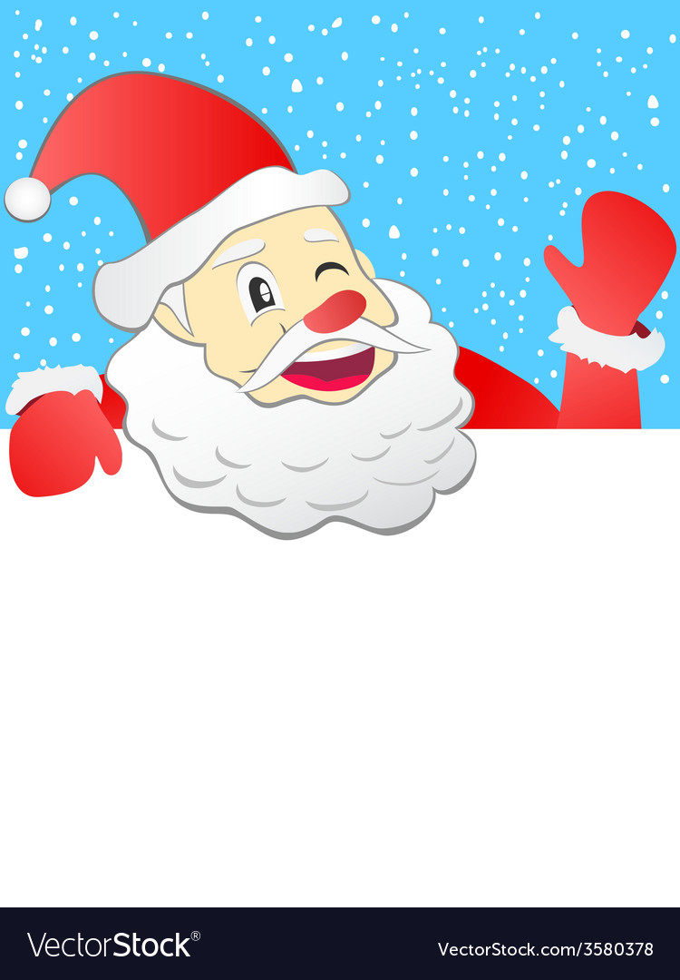 Santa holding with signboard vector | Price: 1 Credit (USD $1)