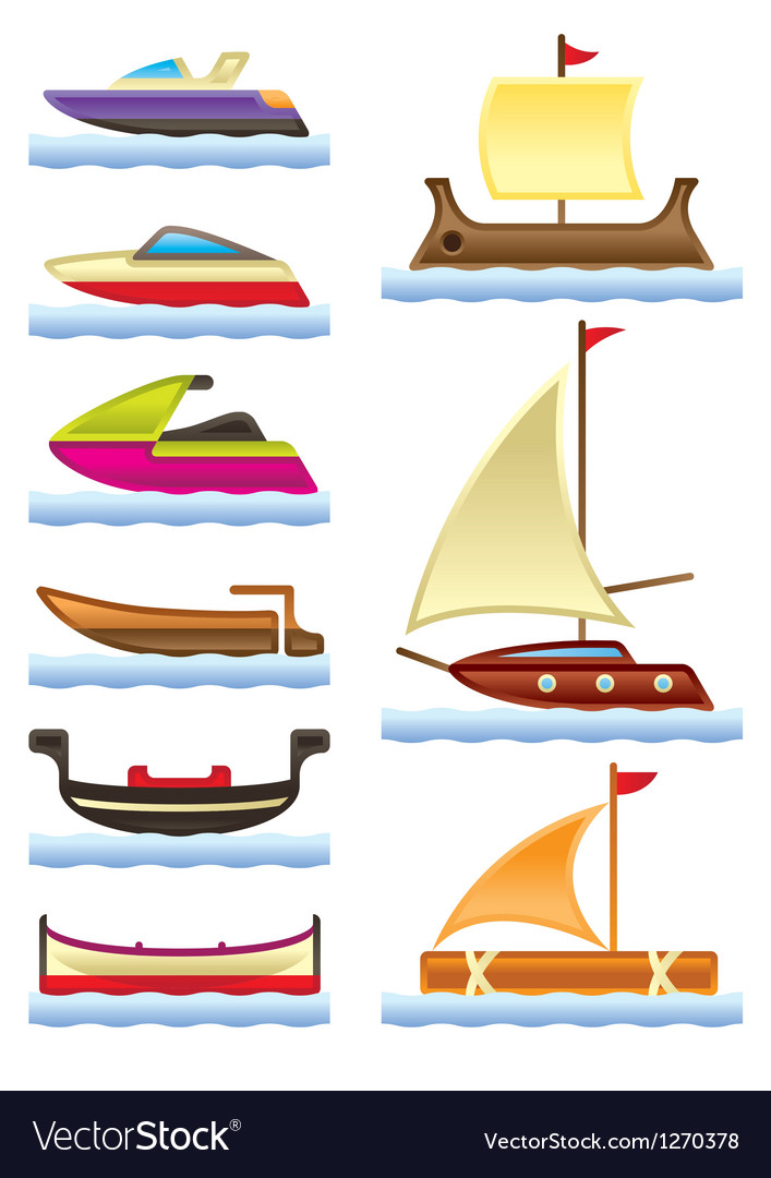 Sea and river boats vector | Price: 3 Credit (USD $3)