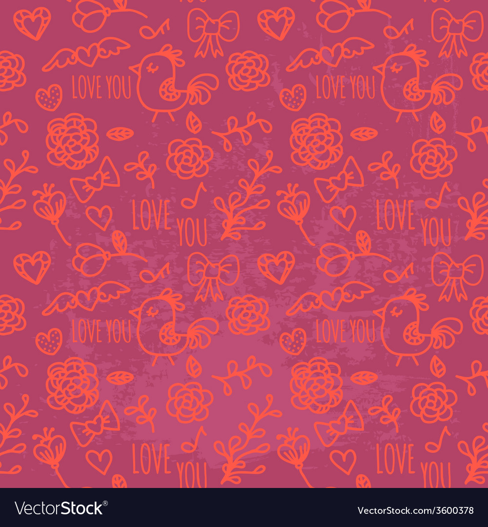 Seamless pattern of valentines day vector | Price: 1 Credit (USD $1)