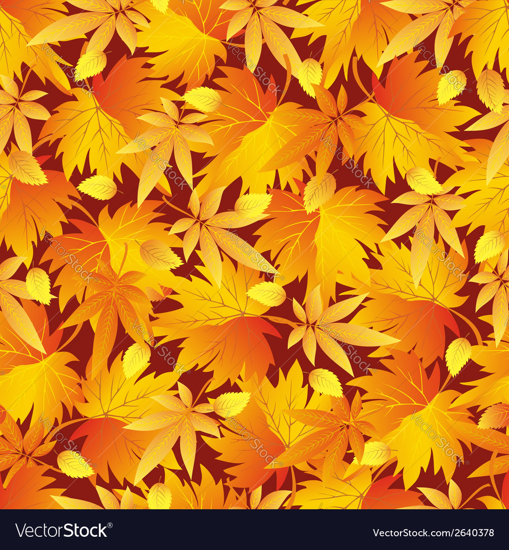 Seamless pattern texture with autumn leaf vector | Price: 1 Credit (USD $1)