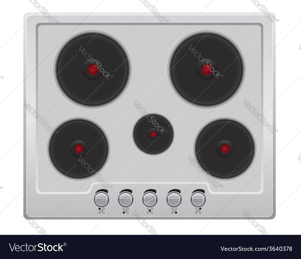 Surface for electric stove 01 vector | Price: 1 Credit (USD $1)
