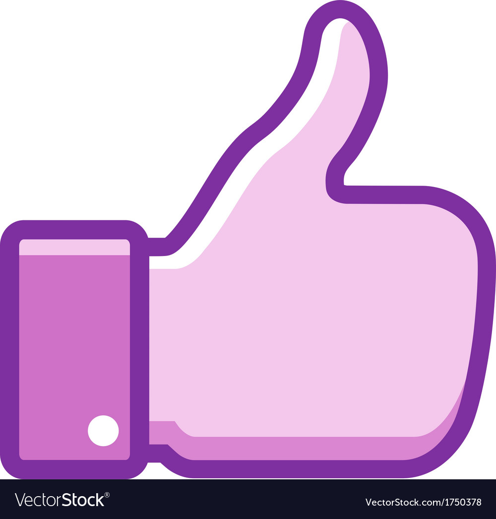 Violet thumb up icon vector | Price: 1 Credit (USD $1)