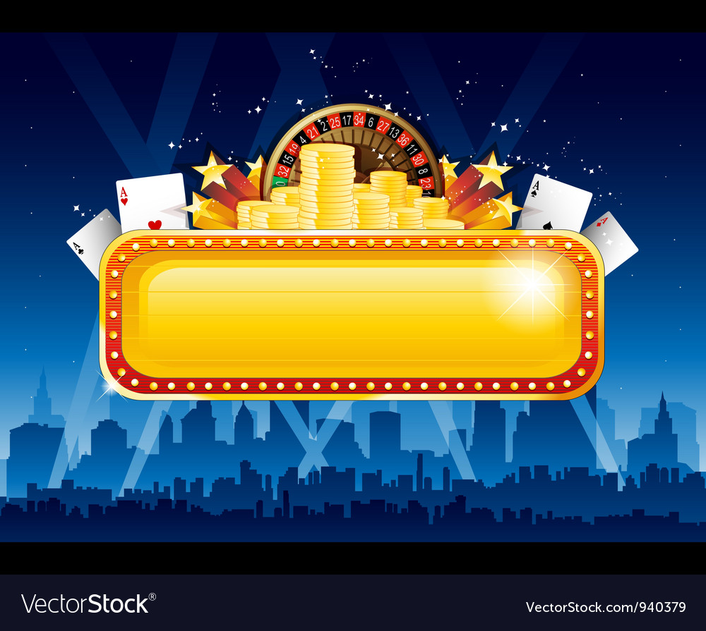 Casino background city vector | Price: 1 Credit (USD $1)