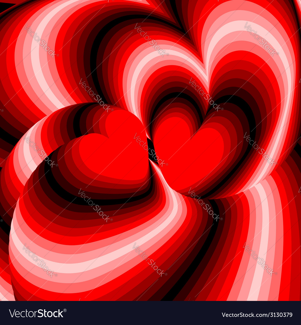 Design hearts twisting movement background vector   Price: 1 Credit (USD $1)