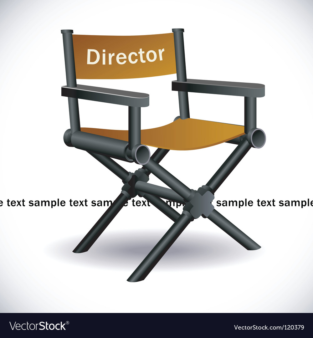 Directors chair vector | Price: 1 Credit (USD $1)