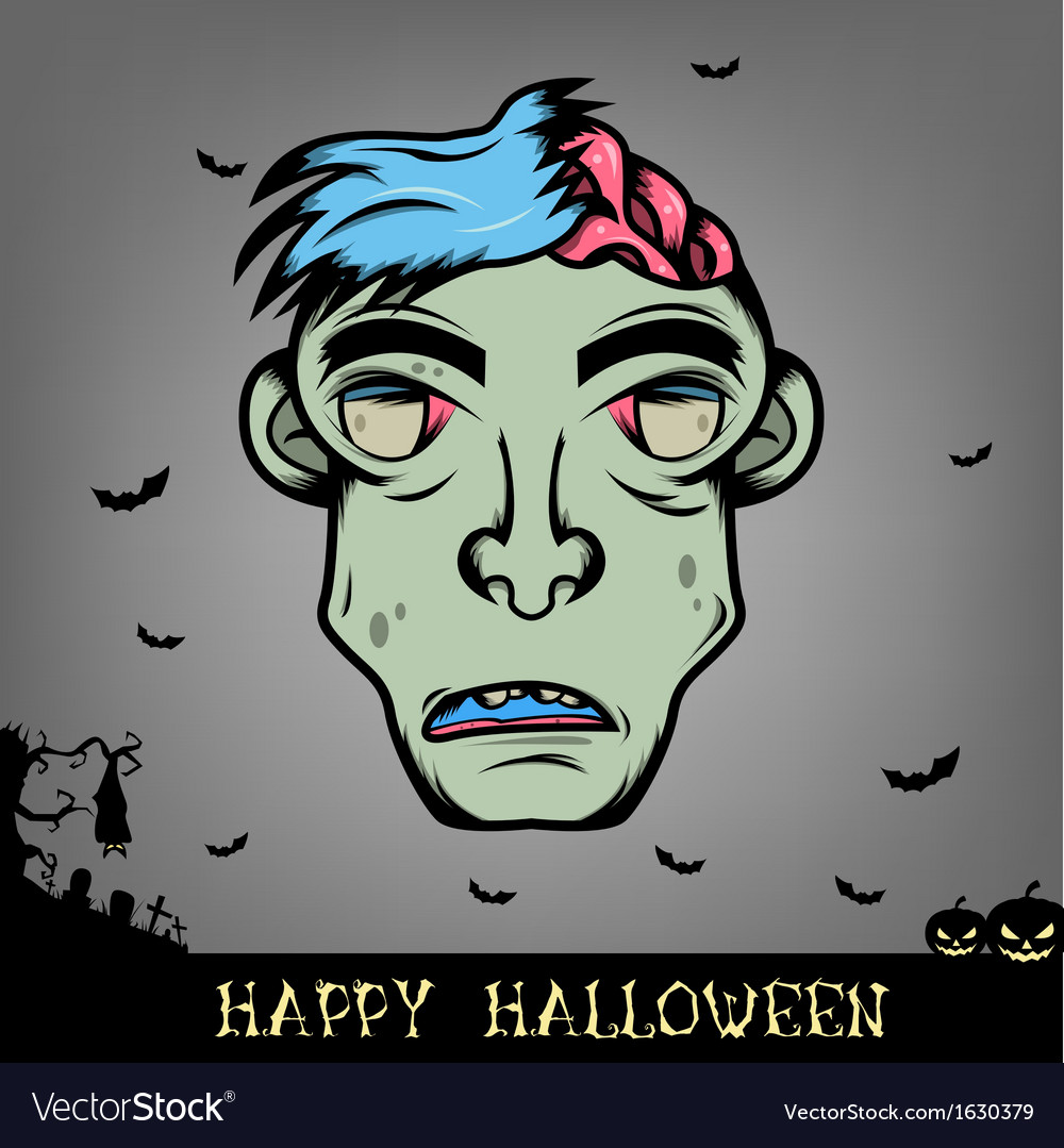Halloween zombie vector | Price: 1 Credit (USD $1)