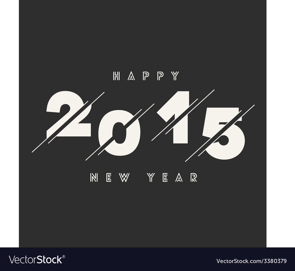 Happy new year 2015 abstract card text design vector | Price: 1 Credit (USD $1)