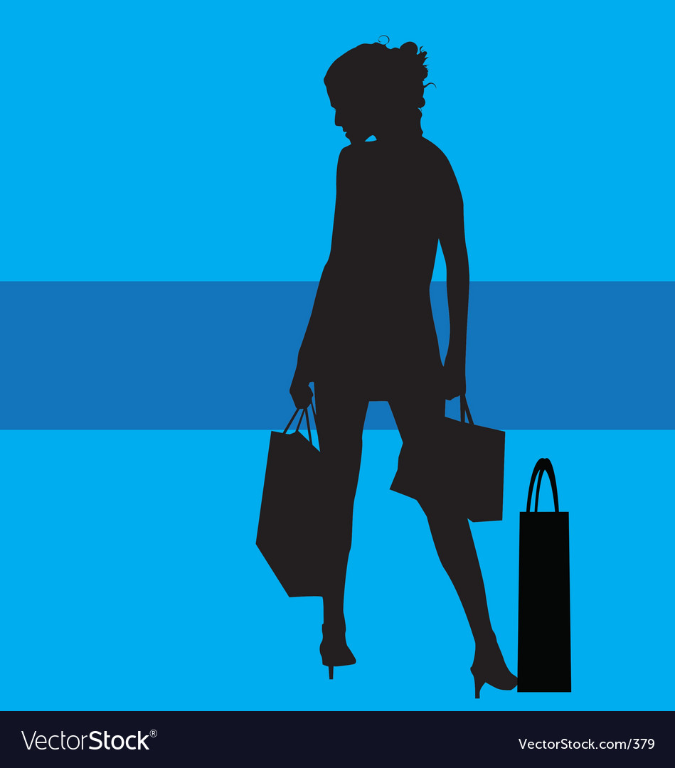 Shopping silhouette vector | Price: 1 Credit (USD $1)