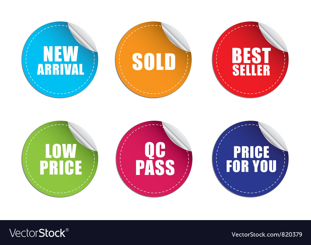 Sticker label price vector | Price: 1 Credit (USD $1)