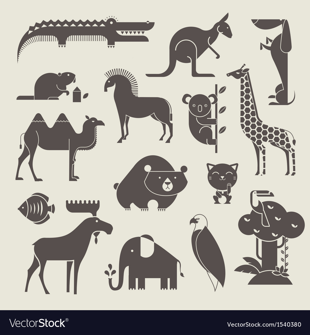 Animals set vector | Price: 1 Credit (USD $1)