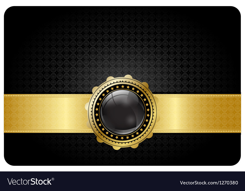 Black vip card vector