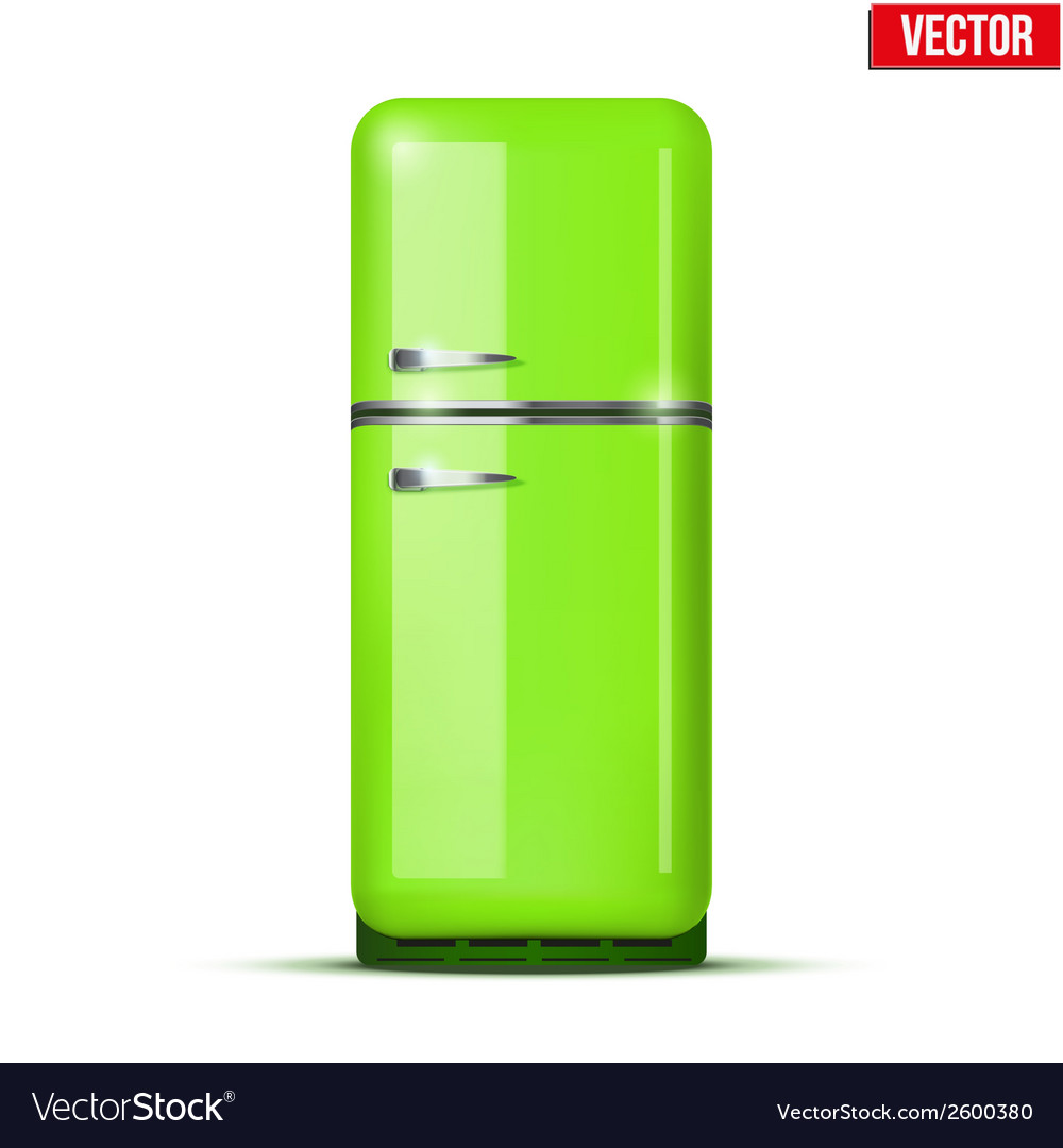 Classic fridge refrigerator isolated on white vector | Price: 1 Credit (USD $1)