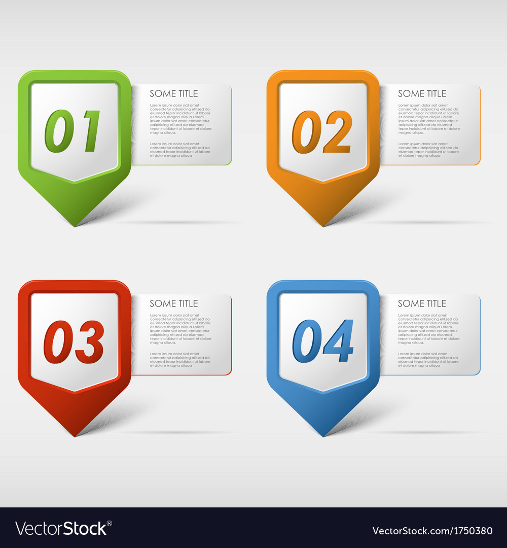 Colorful set progress icons vector | Price: 1 Credit (USD $1)