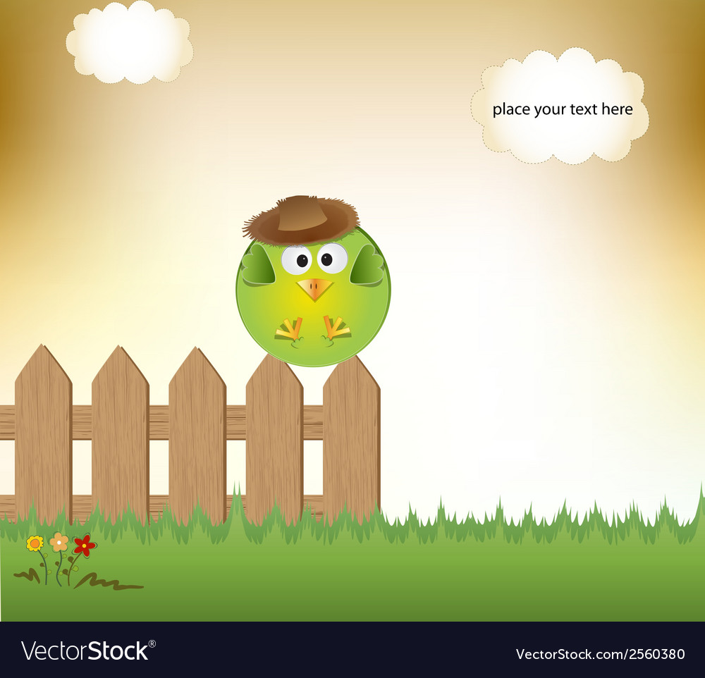 Cute little boy bird vector | Price: 1 Credit (USD $1)