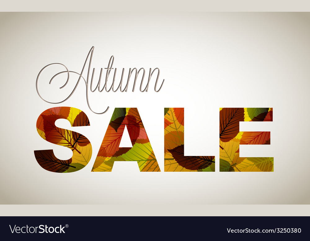 Fall sale poster vector | Price: 1 Credit (USD $1)