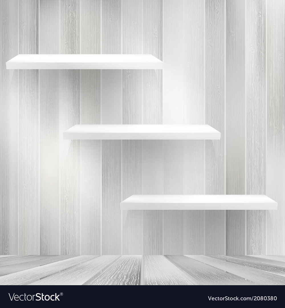 Layers blank light wooden shelf  eps10 vector | Price: 1 Credit (USD $1)