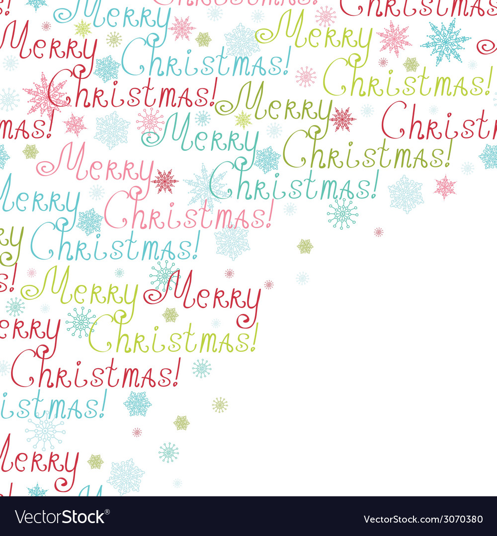 Merry christmas text frame corner pattern vector | Price: 1 Credit (USD $1)