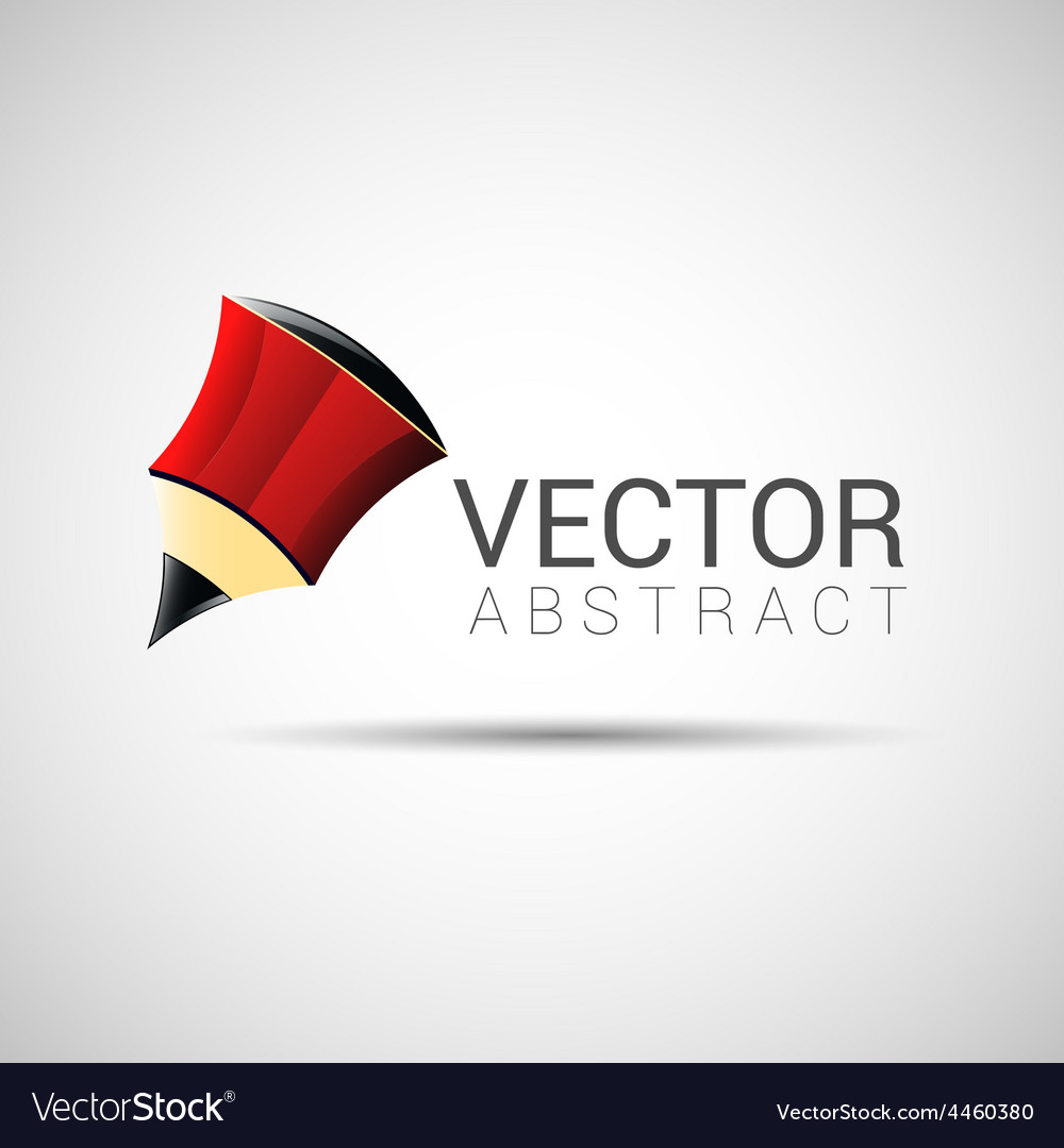 Pencil outline thin symbol red on dark background vector | Price: 1 Credit (USD $1)