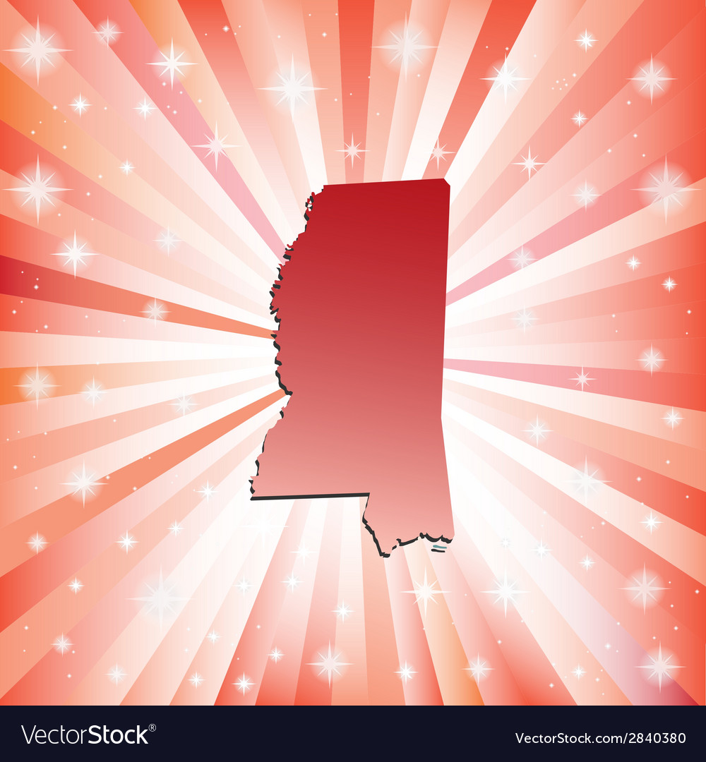 Red mississippi vector | Price: 1 Credit (USD $1)