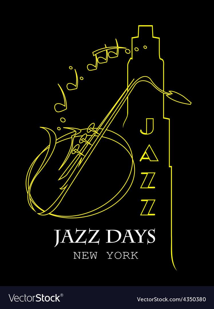 Saxophone motif vector | Price: 1 Credit (USD $1)