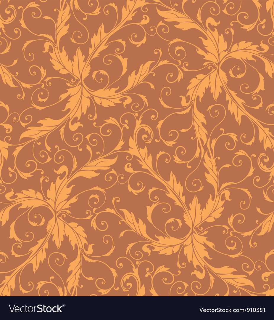 Classic foliage swirl seamless pattern vector | Price: 1 Credit (USD $1)