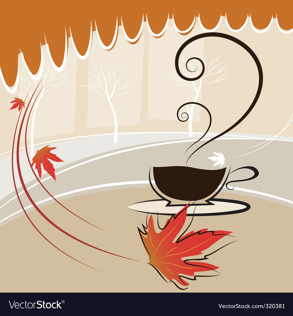 Coffee and autumn season vector | Price: 1 Credit (USD $1)