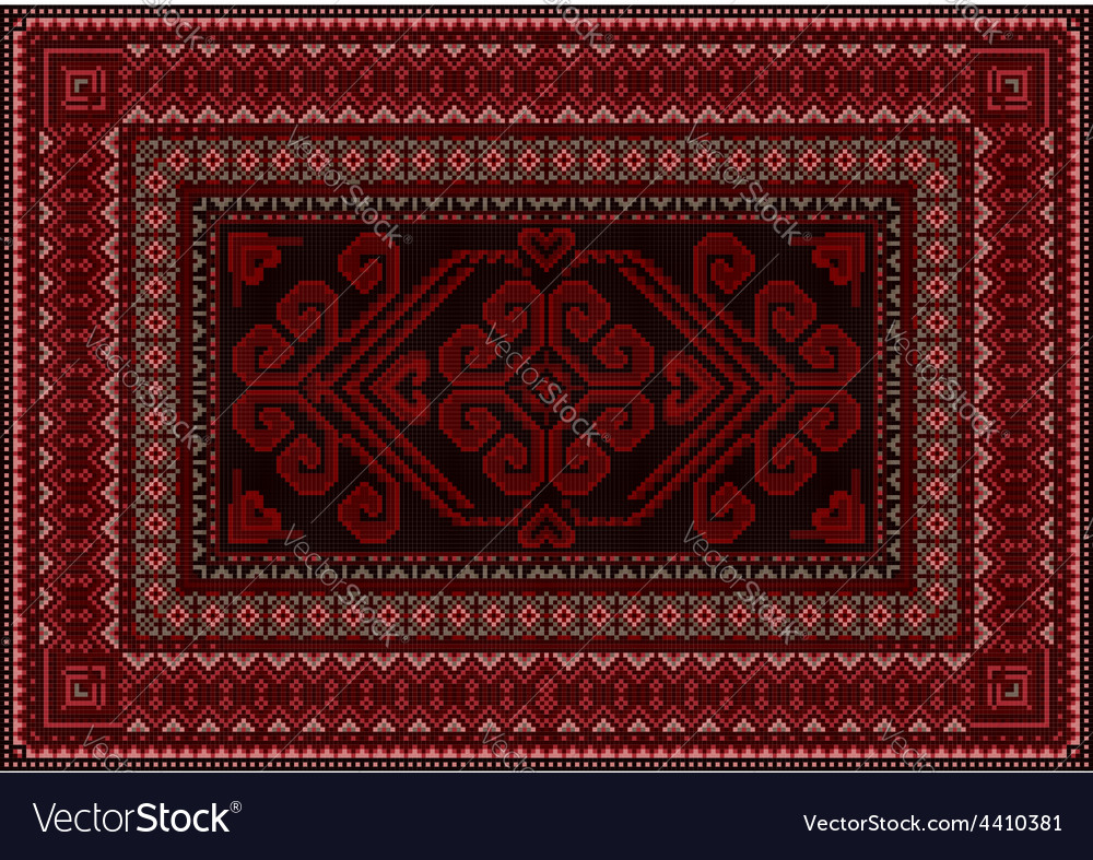 Dark carpet with red and brown shades vector | Price: 1 Credit (USD $1)