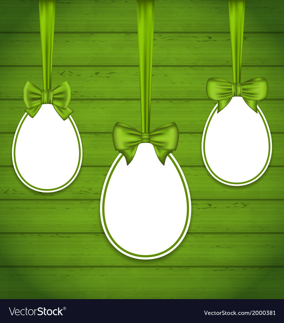 Easter eggs wrapping green bows vector | Price: 1 Credit (USD $1)