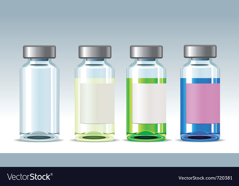 Four medicine bottles vector | Price: 1 Credit (USD $1)
