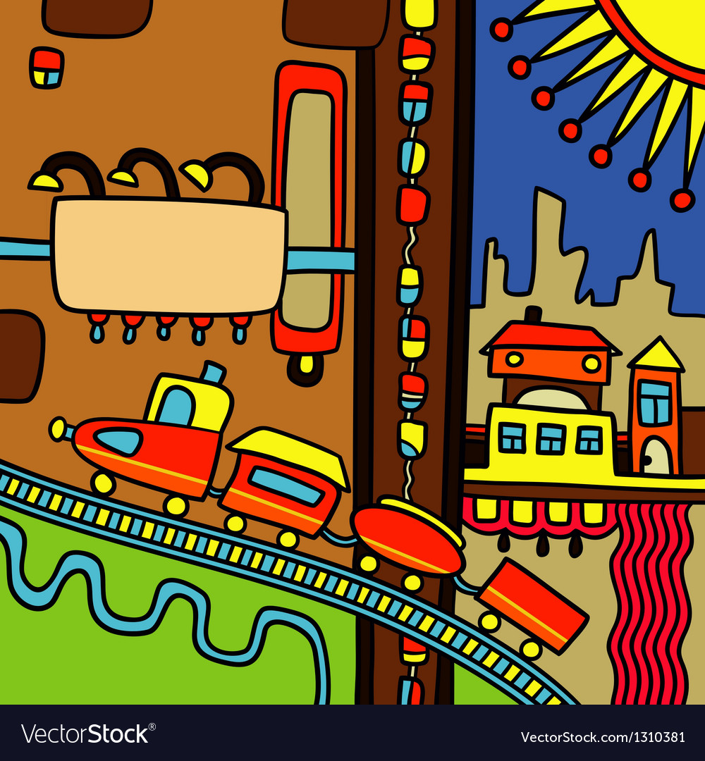 Hand draw city abstract composition vector   Price: 1 Credit (USD $1)
