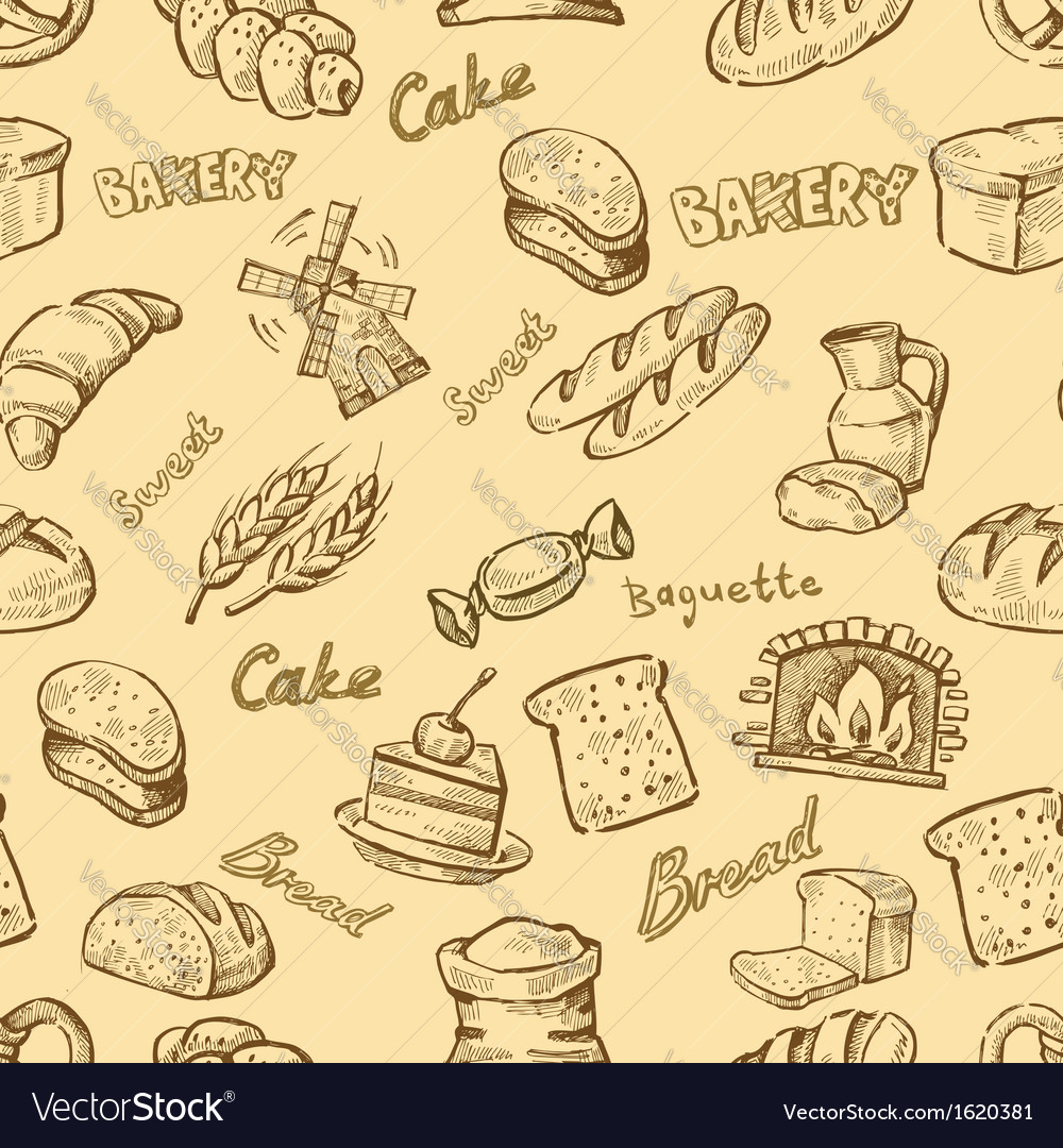 Hand drawn bakery vector | Price: 1 Credit (USD $1)