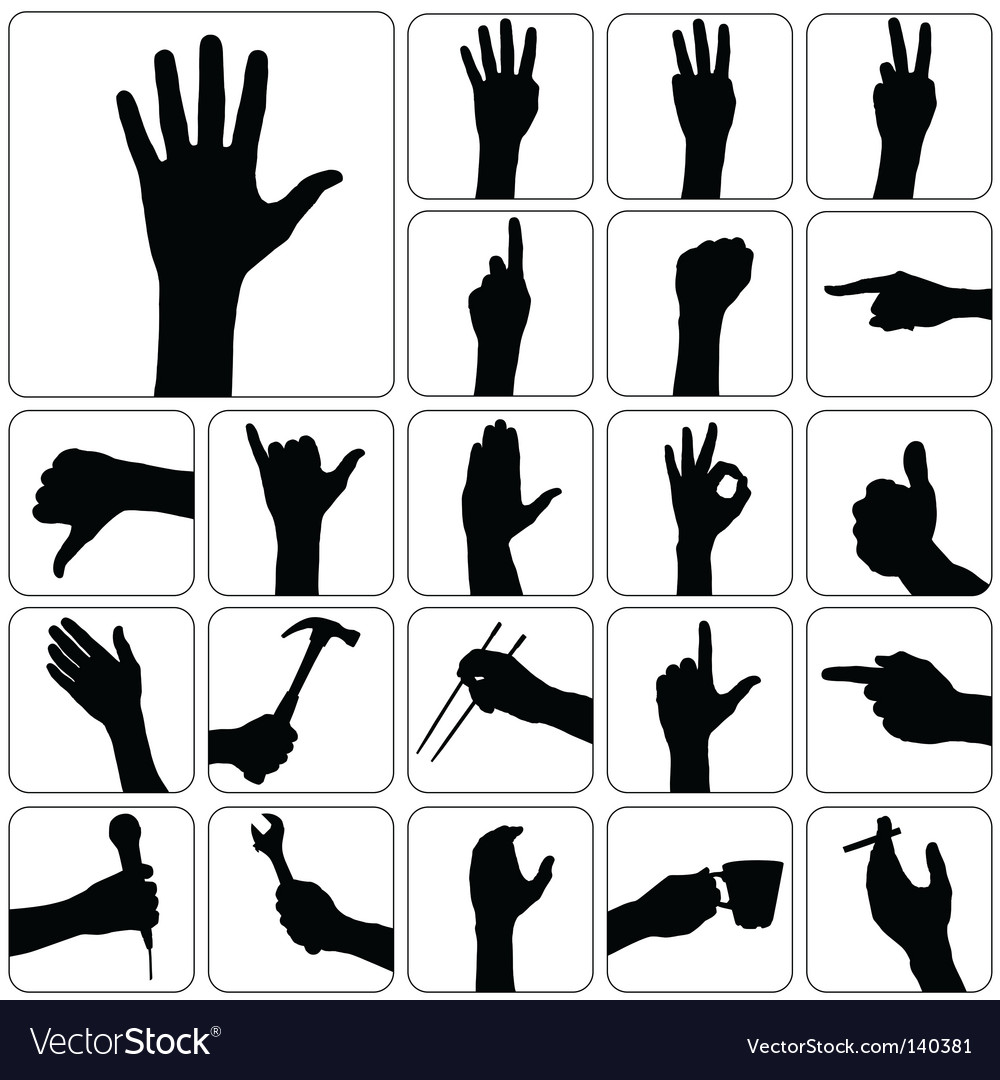 Hand silhouette vector | Price: 1 Credit (USD $1)