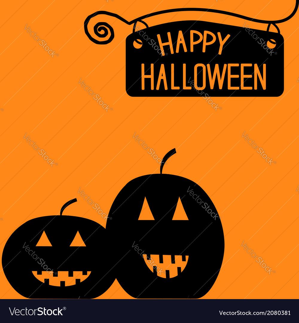 Happy halloween pumpkin card vector | Price: 1 Credit (USD $1)