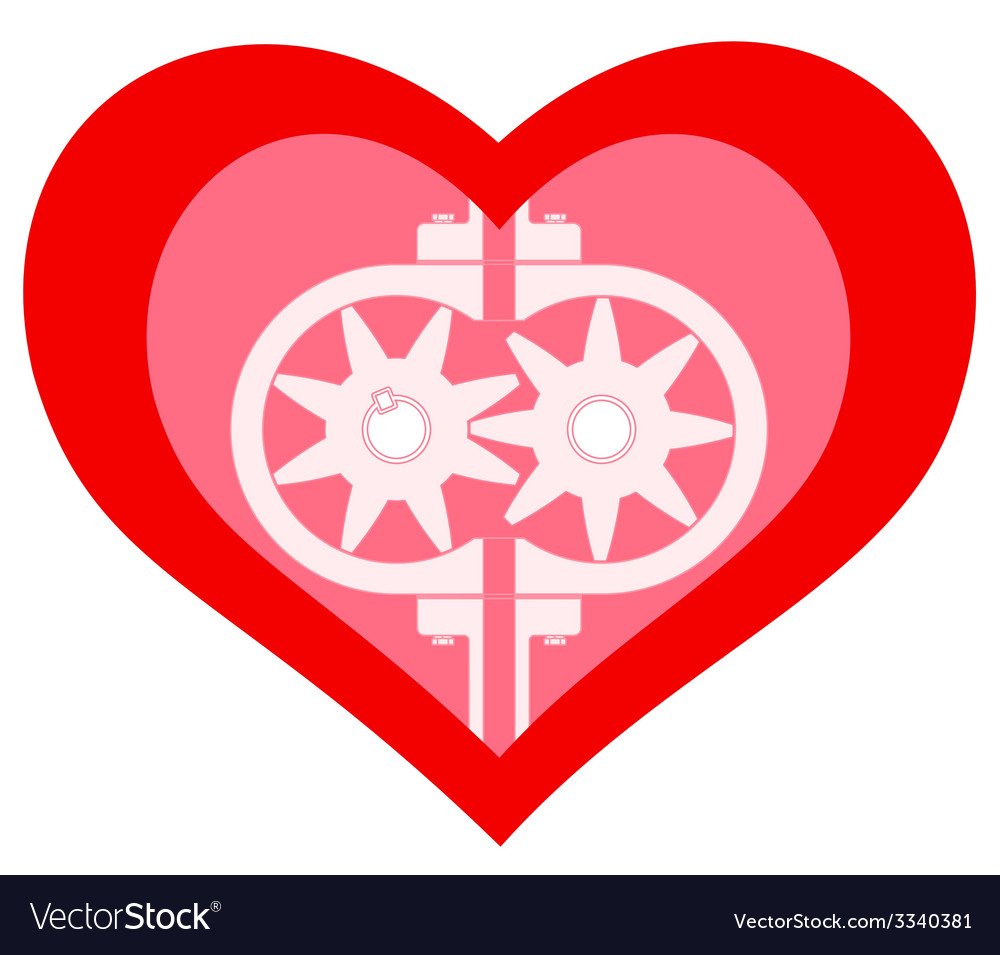 Heart pump vector | Price: 1 Credit (USD $1)