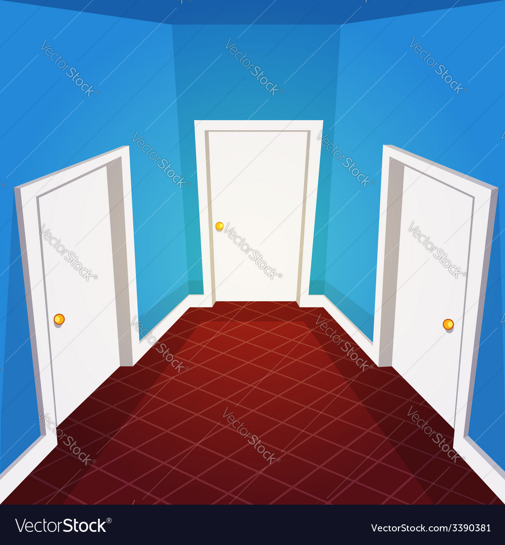 House hallway vector | Price: 1 Credit (USD $1)
