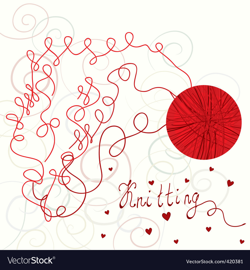 Knitting card vector | Price: 1 Credit (USD $1)