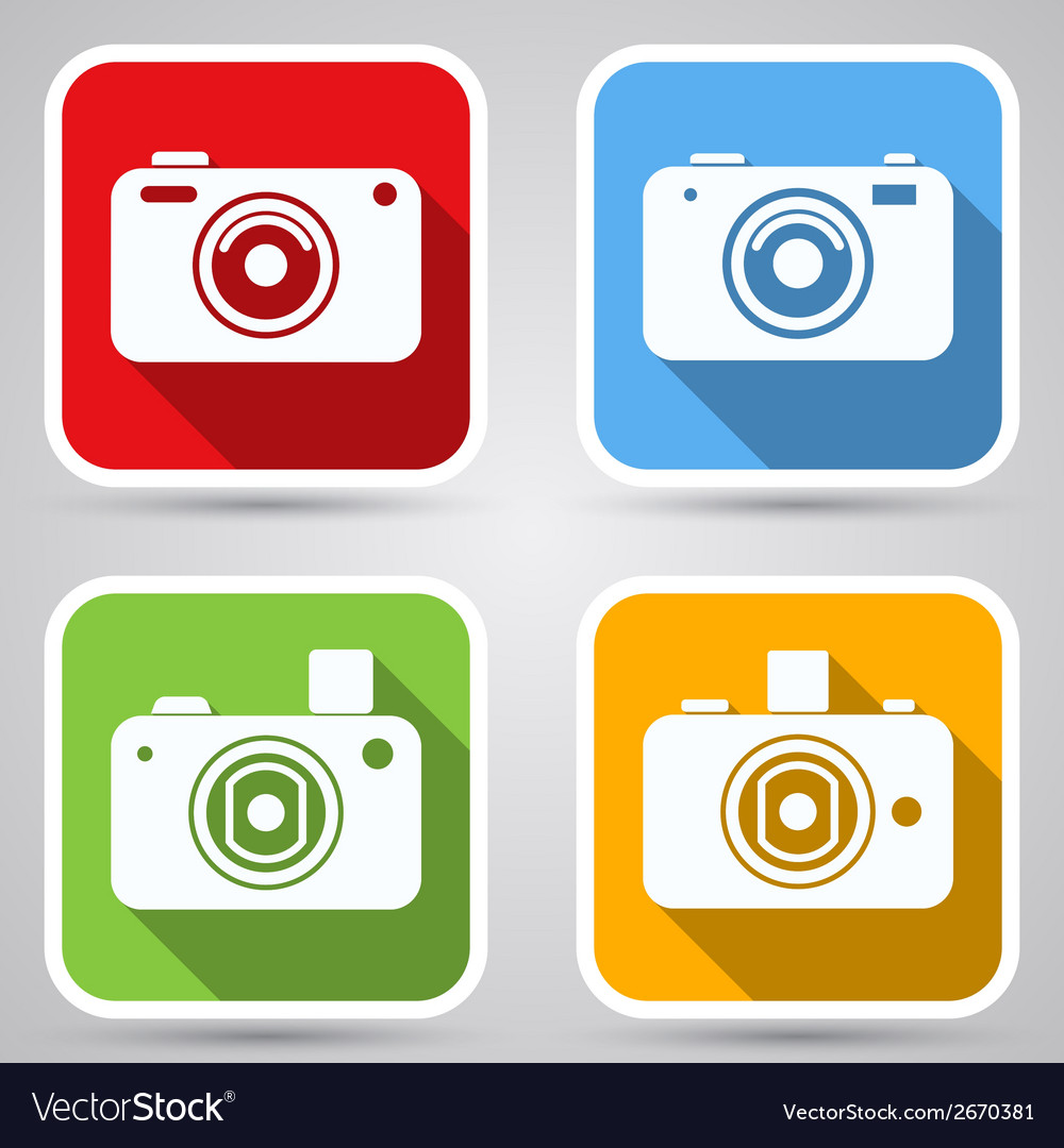 Photo camera icons collection vector | Price: 1 Credit (USD $1)