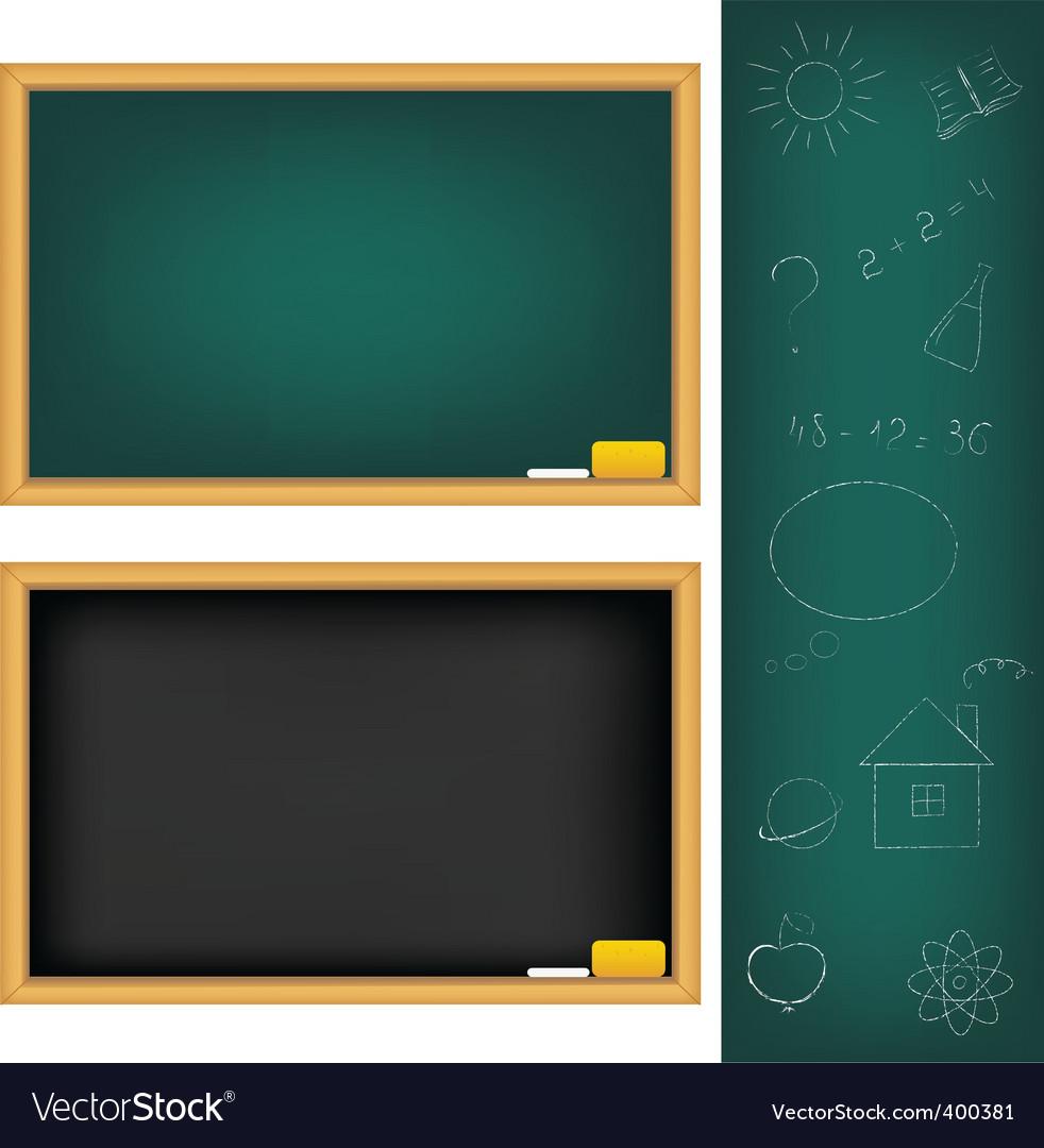 School boards vector | Price: 1 Credit (USD $1)