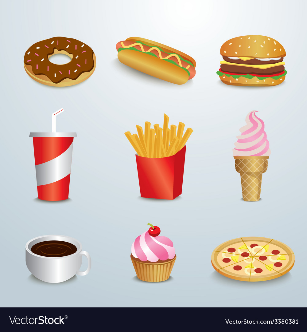 Set of fast food vector | Price: 3 Credit (USD $3)