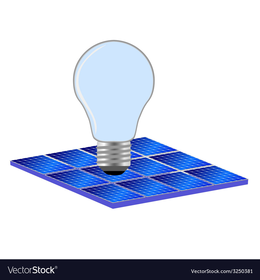 Solar panel and bulb vector | Price: 1 Credit (USD $1)