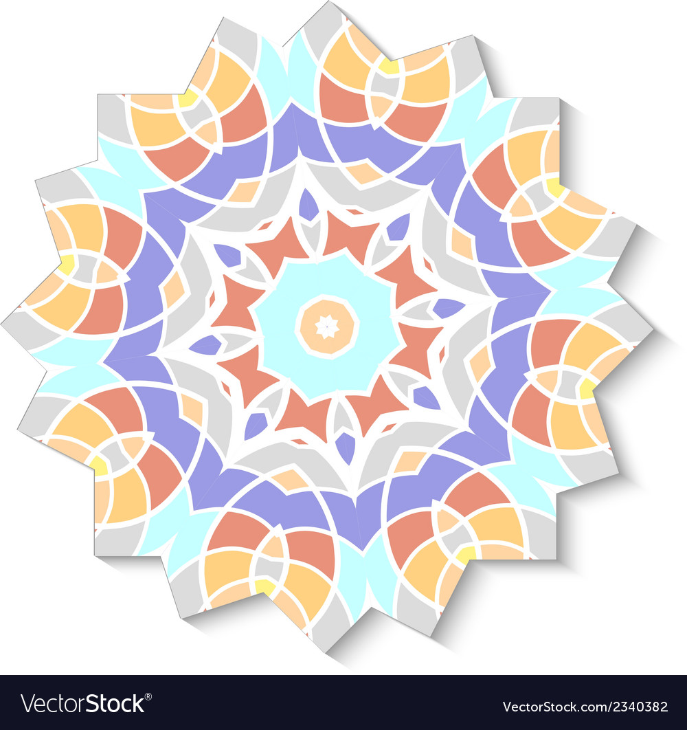Abstract mosaic design element vector | Price: 1 Credit (USD $1)