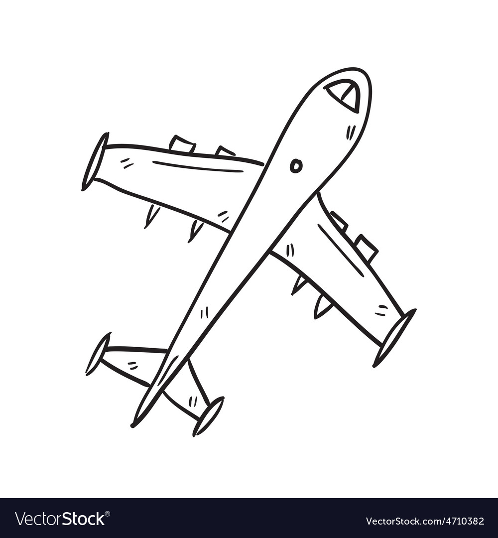 Airplane hand drawn vector | Price: 1 Credit (USD $1)
