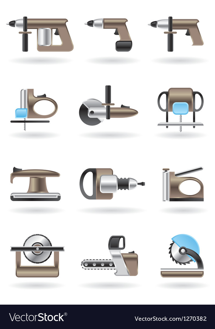 Building and furniture power tools vector | Price: 3 Credit (USD $3)