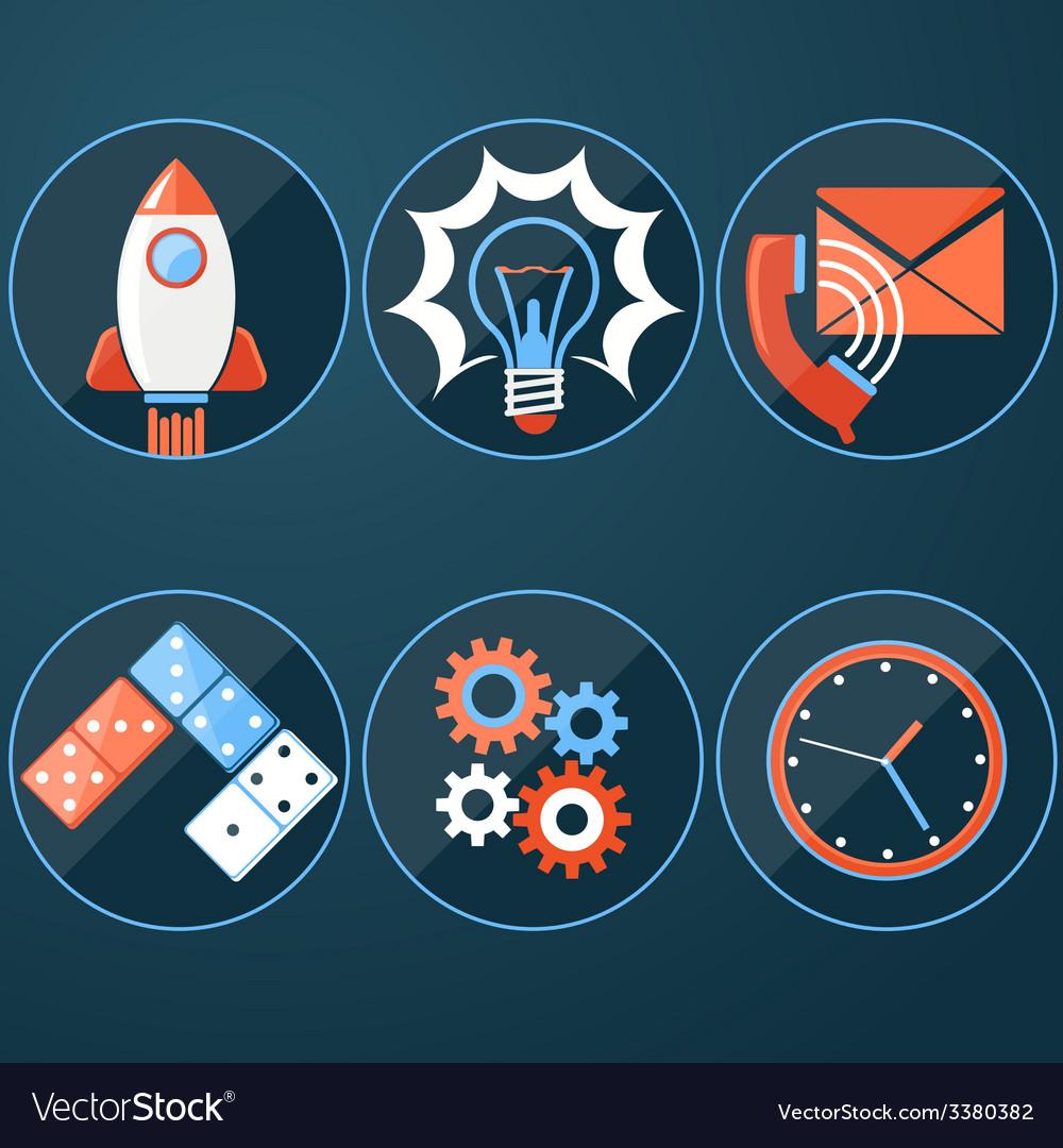 Business start up rocket idea vector   Price: 1 Credit (USD $1)