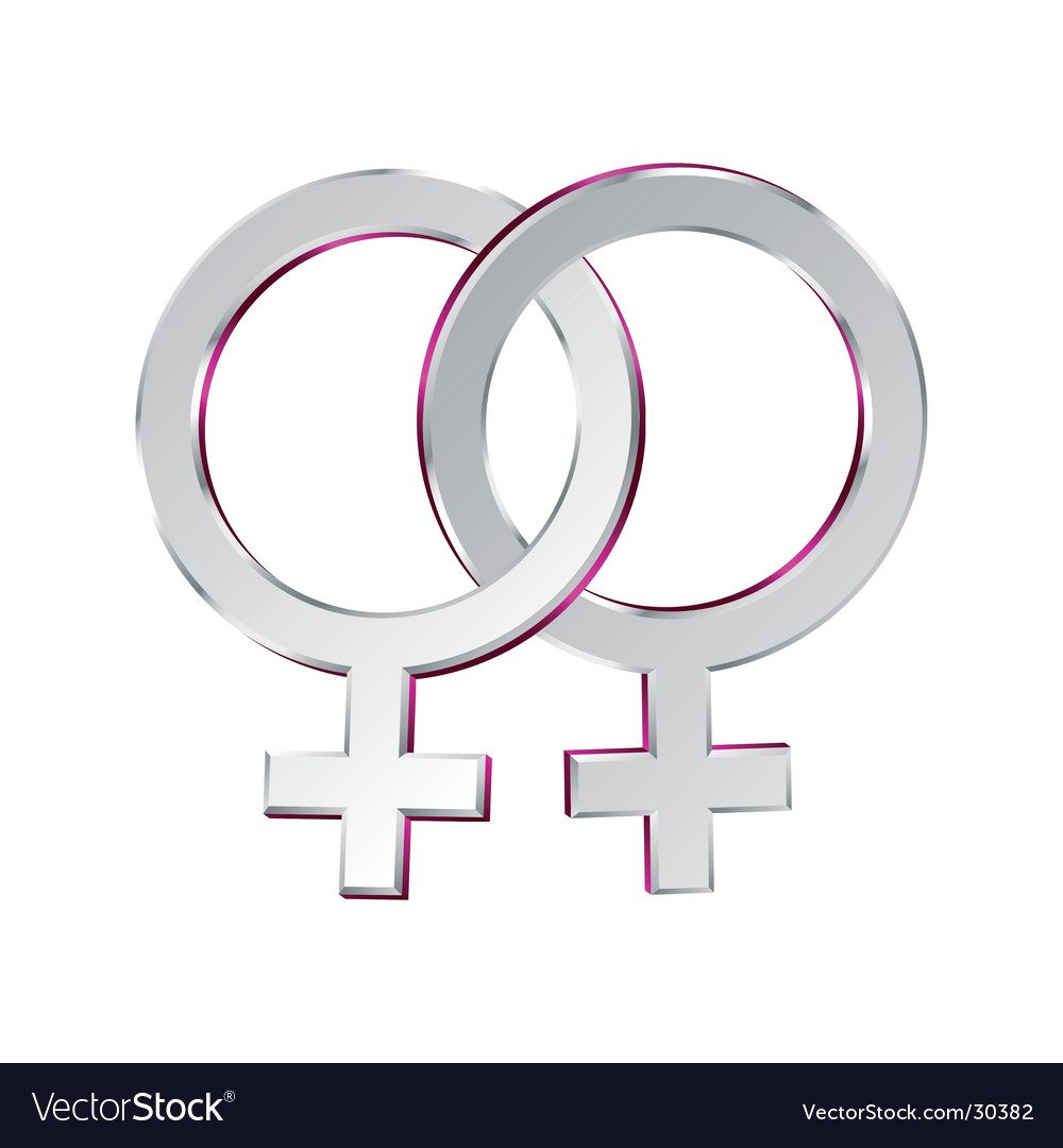 Female and female symbols union vector | Price: 1 Credit (USD $1)