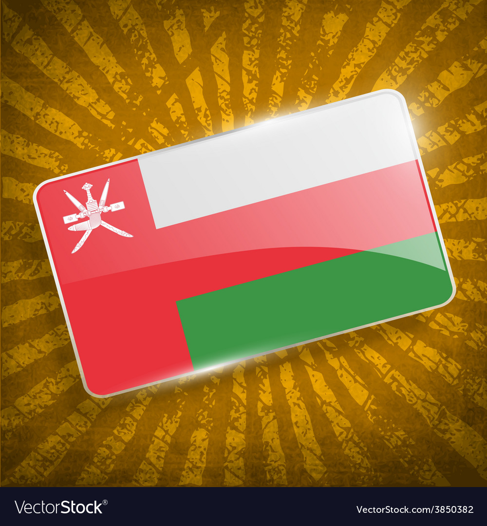 Flag of oman with old texture vector | Price: 1 Credit (USD $1)