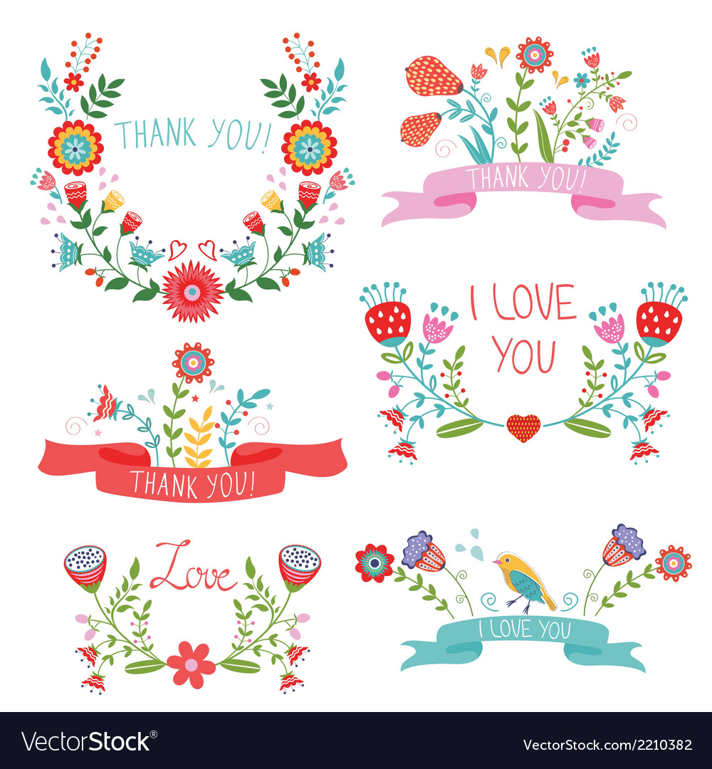 Floral banners for life events vector | Price: 1 Credit (USD $1)