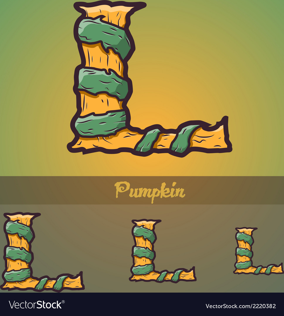 Halloween decorative alphabet - l letter vector | Price: 1 Credit (USD $1)