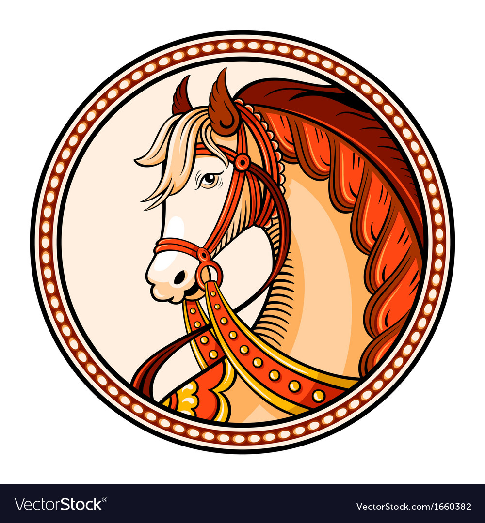 Horse emblem vector | Price: 1 Credit (USD $1)