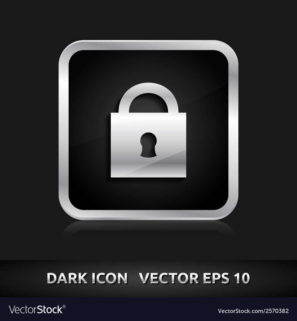 Lock icon silver metal vector | Price: 1 Credit (USD $1)